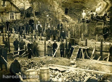 Работы по укреплению горы Старого замка в Гродно. Вторая половина 20-х гг.
