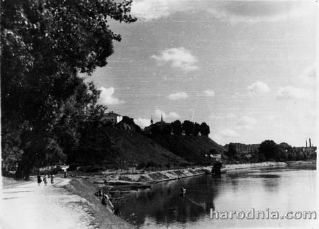 Набережная Немана в Гродно. 1958 г
