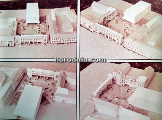 Праект 1988 года. Так мусіў выглядаць будынак што закрываў бы кінатэатар Гродна